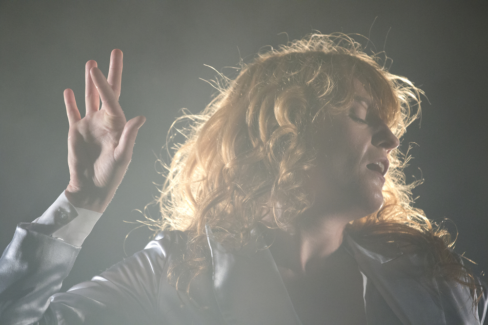 Florence Welch performs with her band Florence + the Machine at the Lollapalooza Music Festival in Grant Park Sunday, August 2, 2015. (Erin Hooley/Chicago Tribune)