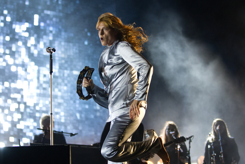 Florence Welch performs with her band Florence + the Machine at the Lollapalooza Music Festival in Grant Park Sunday, August 2, 2015 in Chicago. (Erin Hooley/Chicago Tribune)