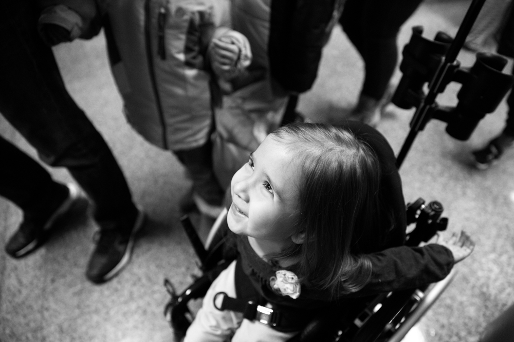 3-year-old Dayna Dorencz-Cuervo pushes herself in her wheelchair as she heads to her classroom at Barbara Vick Early Childhood and Family Center Wednesday, Jan. 25, 2017, in the Kennedy Park neighborhood of Chicago. Dayna has spina bifida and several other health issues which require special care. She usually gets around by crawling at home and uses a wheelchair when she goes to preschool. (Erin Hooley/Chicago Tribune)