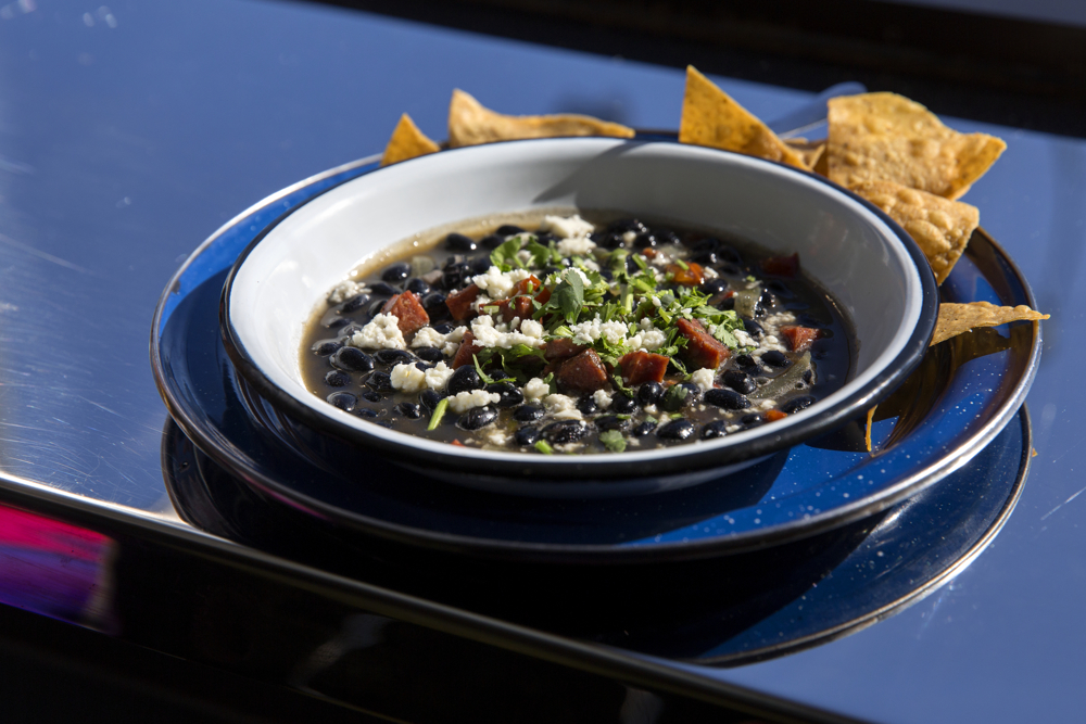 Black bean soup is on the menu at Cafe Tola Wednesday, March 15, 2017, in the Avondale neighborhood of Chicago. (Erin Hooley/Chicago Tribune)