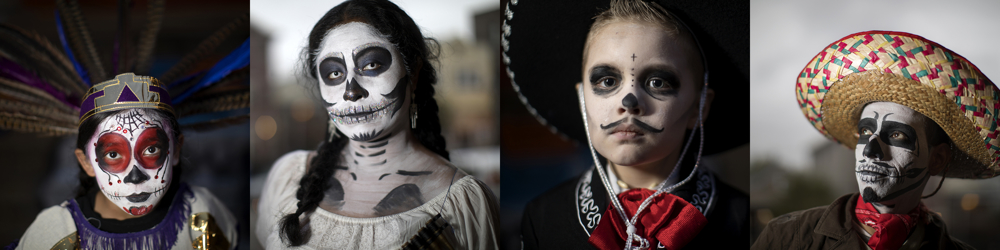 Dia de los Muertos Thursday, Nov. 2, 2017, in the Pilsen neighborhood of Chicago. (Erin Hooley/Chicago Tribune)