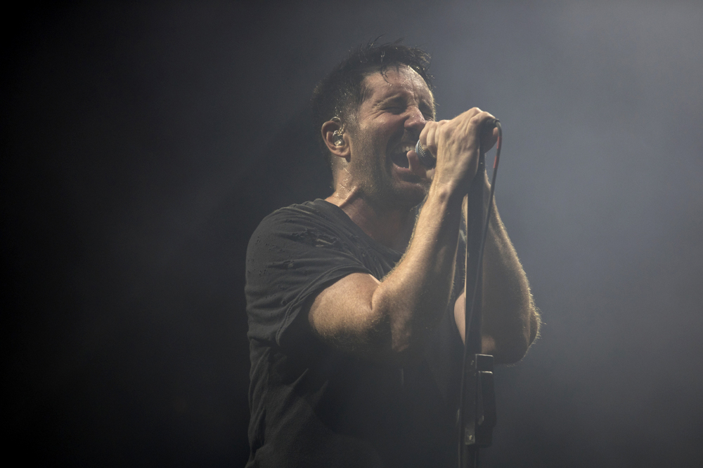Trent Reznor performs with his band Nine Inch Nails during Riot Fest Friday, Sept. 15, 2017, at Douglas Park in Chicago. (Erin Hooley/Chicago Tribune)