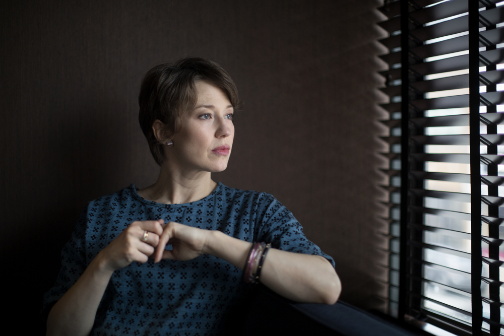 "Actress Carrie Coon poses for a portrait at the Robey Hotel Thursday, Dec. 21, 2017, in Chicago. Coon played Nora Durst on HBO's ""The Leftovers,"" Margo Dunne, the sister of Ben Affleck's main character, Nick Dunne, in ""Gone Girl"" and most recently Gloria Burgle in FX's ""Fargo"" series in 2017. (Erin Hooley/Chicago Tribune)"