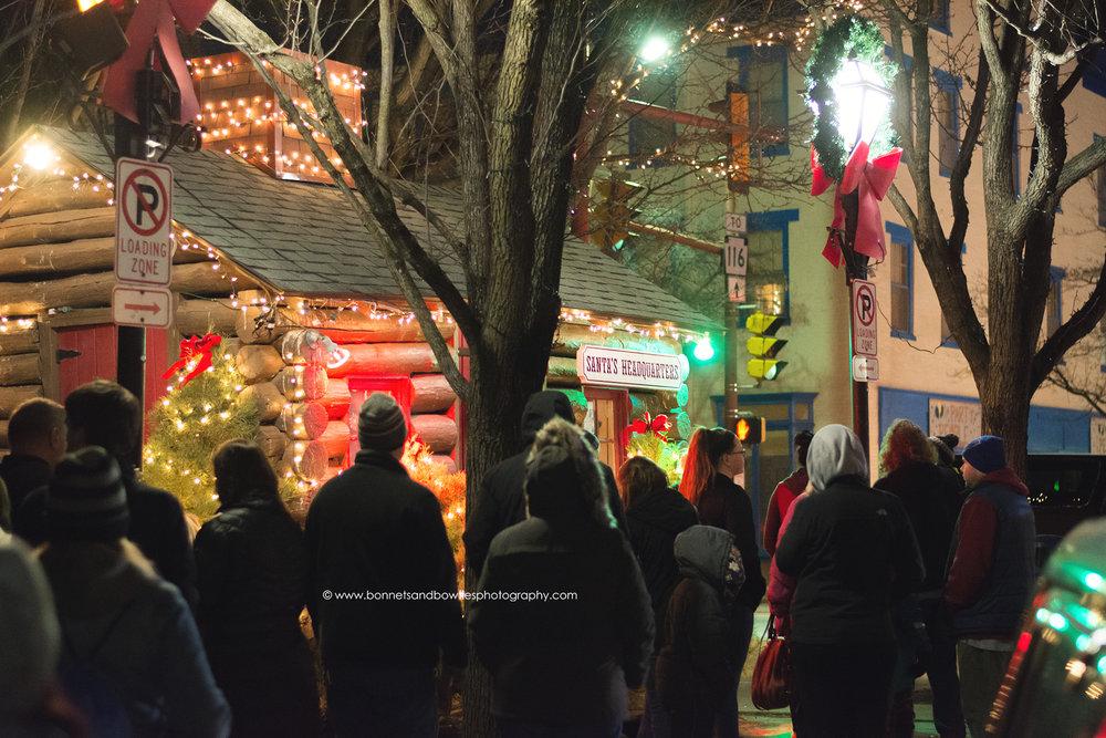 Santa's cabin in Hanover, PA