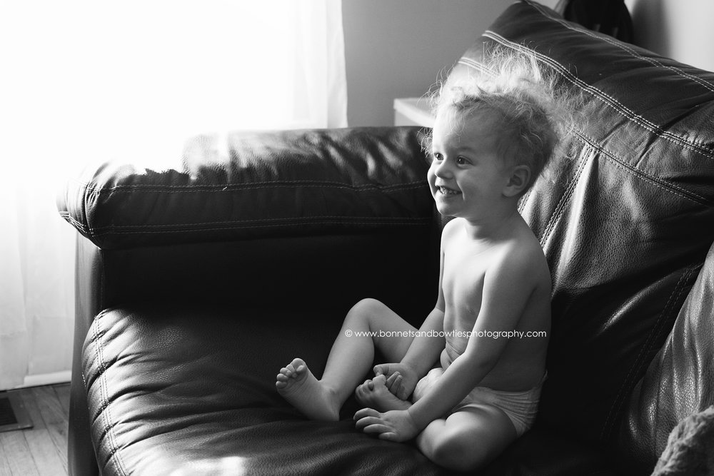 laughing toddler couch