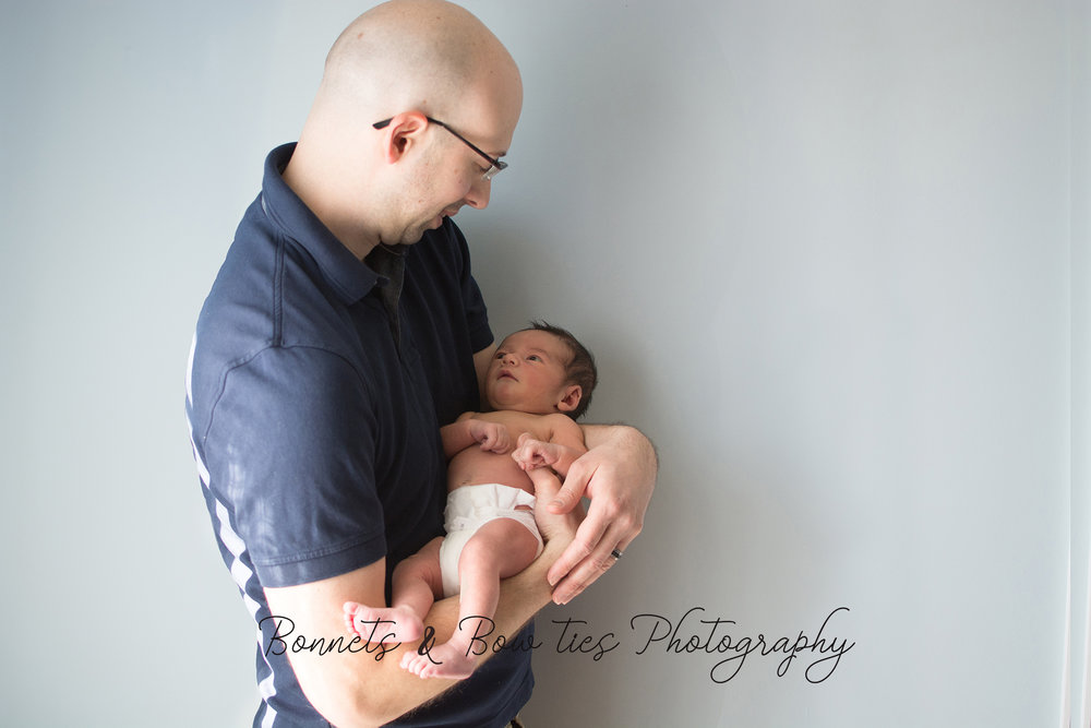Dad and son newborn shoot york pa jpg