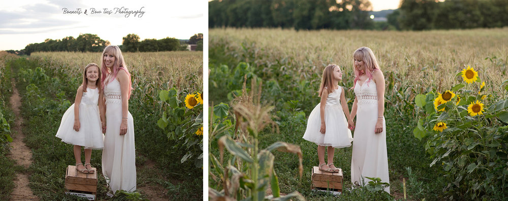 mother- daughter photo shoot york pa white dresses