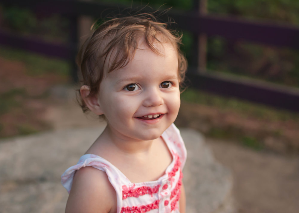 Two year old girl portrait