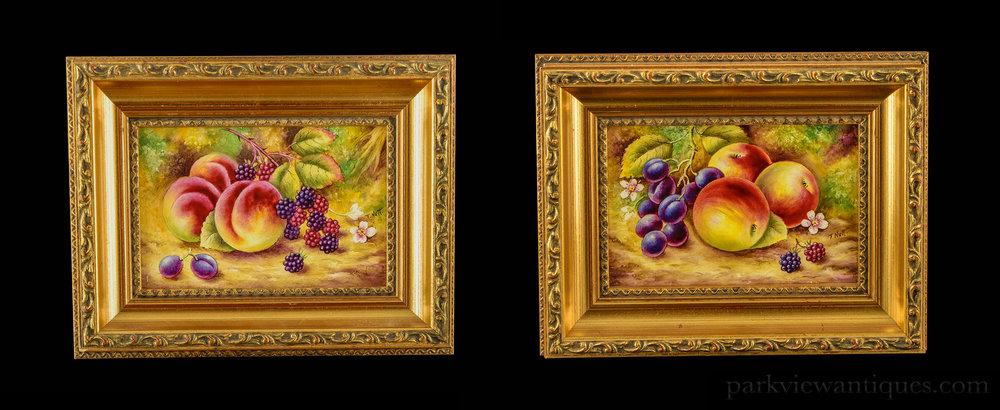Worcester Fruit Decorated — Park View Antiques