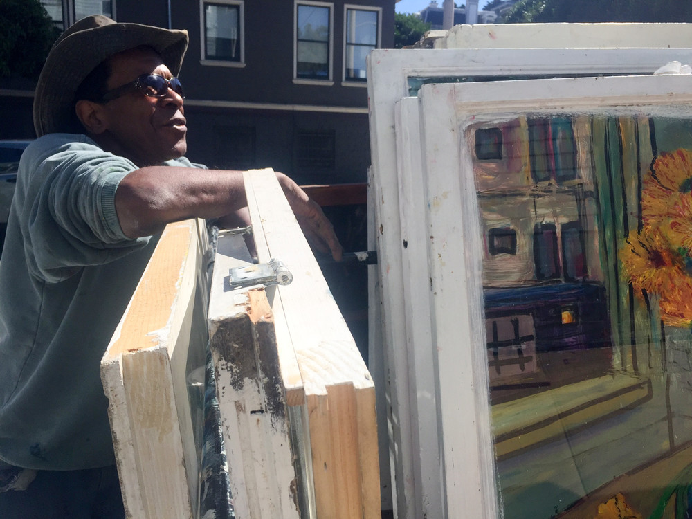 Meet Chris Duke, The Blues Musician Turning Discarded Windows Into Works Of Art