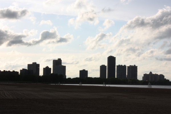 Chicago Skyline at the Beach