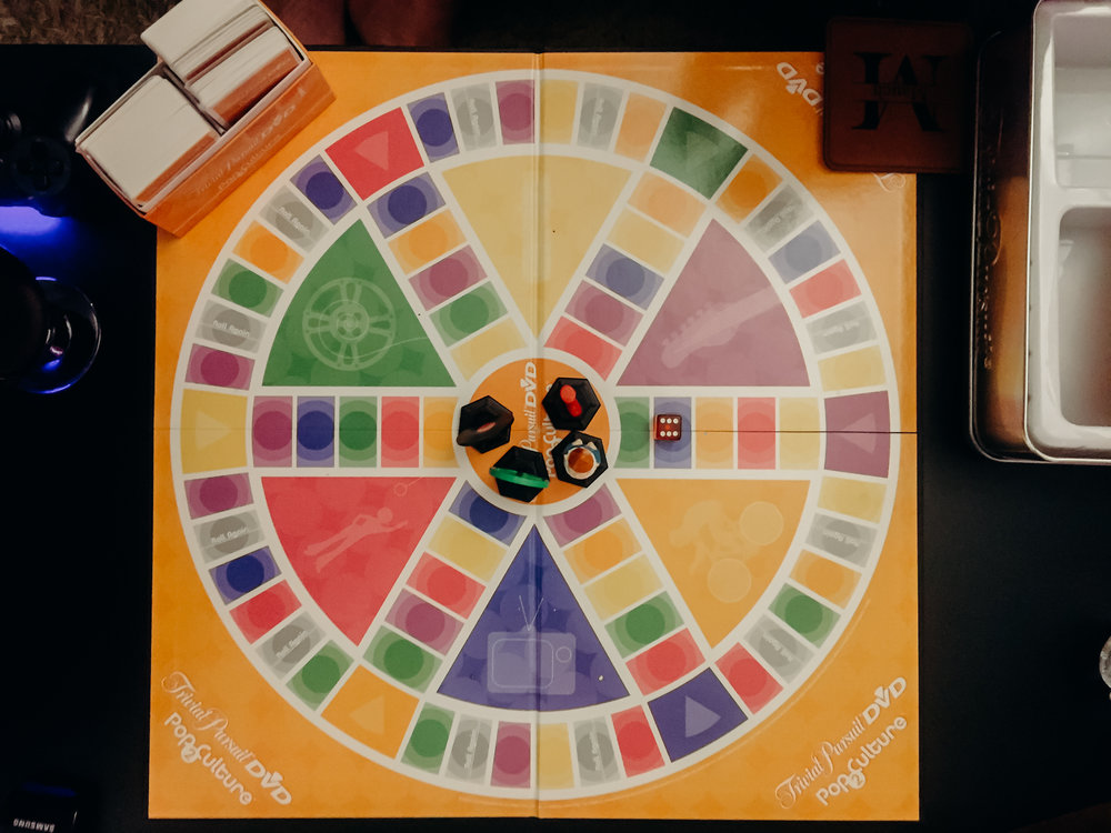 The night ended with a game of Trivial Pursuit.