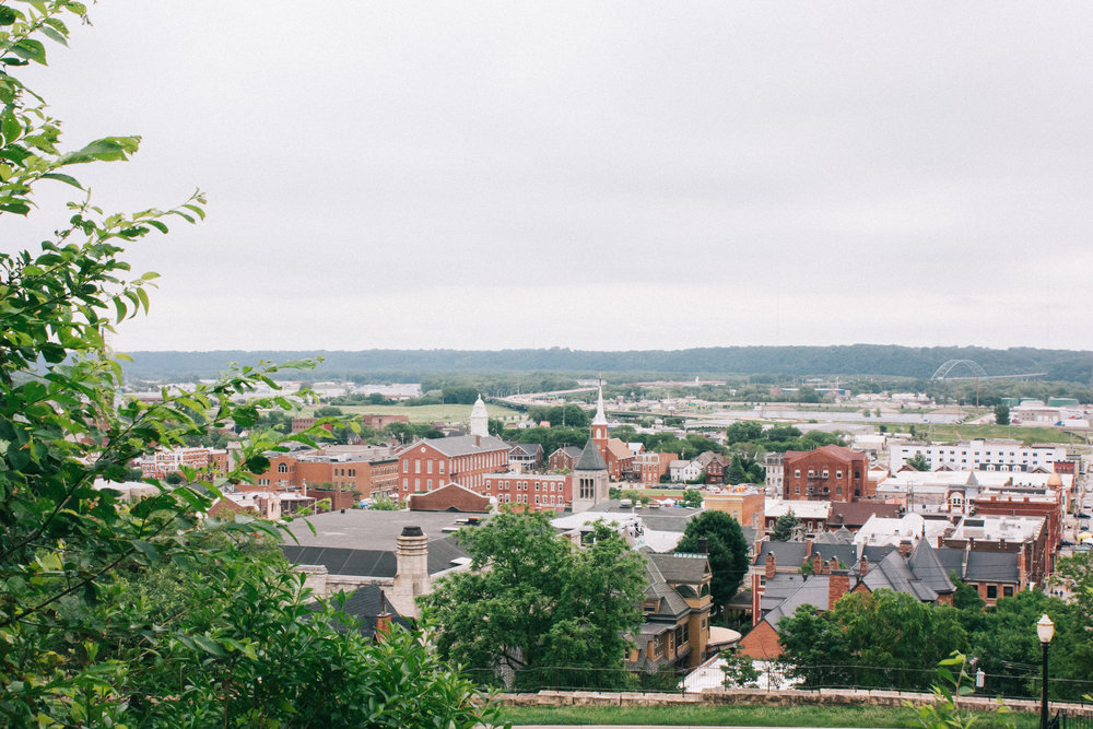 Overlooking downtown Dubuque