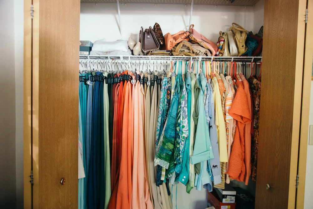 Grandma's color coordinated wardrobe
