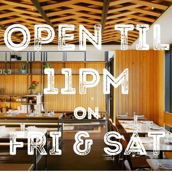 Farewell summer. We are once again OPEN til 11pm on Fridays & Saturdays. #latehours