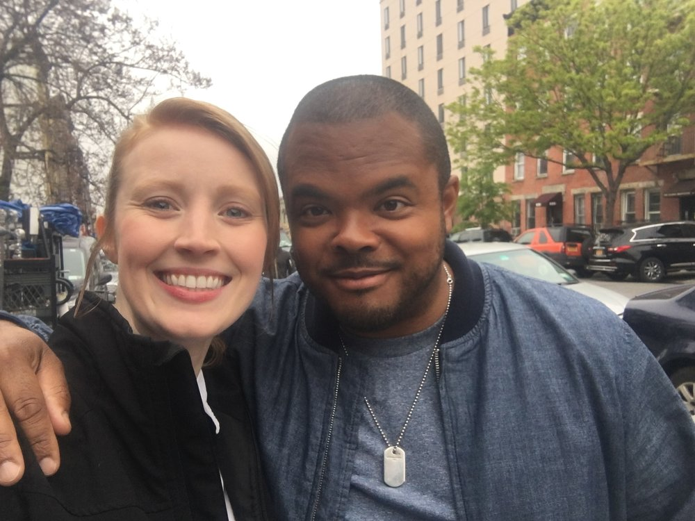 McKenna hanging with Roger Mooking on set for Man, Fire, Food
