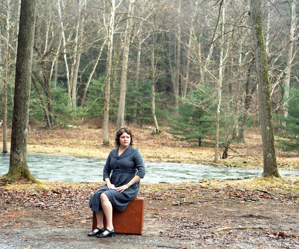 Even on a Clear Day, I Still cannot Find You, Suitcase. 2008. Inkjet. 30T X 40W.