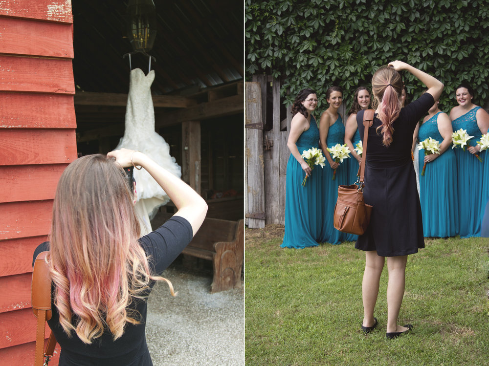Some of you may not know that I started the wedding season with cotton candy pink hair! :D