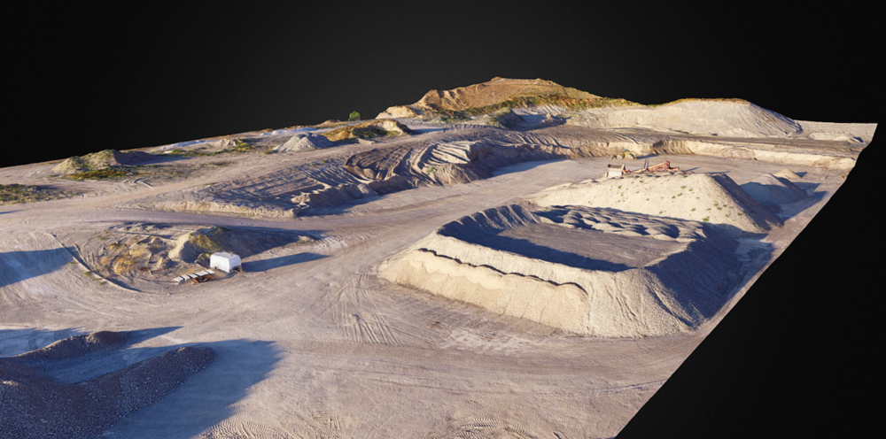 Detailed 3D map or geo-referenced point cloud