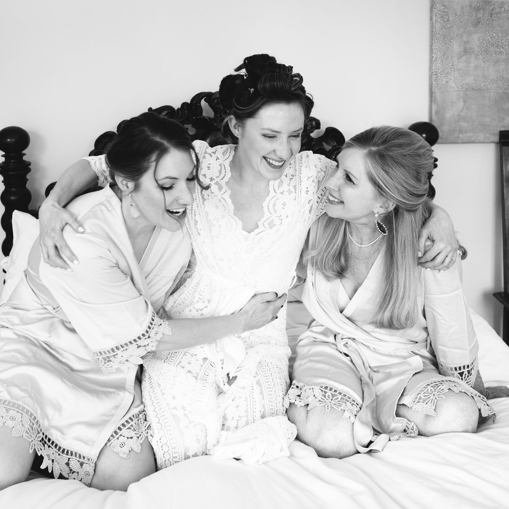Hairstyling & Makeup for Mothers and Bridesmaids - Your girls gotta get pampered too. We offer hairstyling and makeup so you know your crew is looking (almost) as good as you.