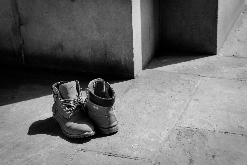 boots of the homeless, 2015.