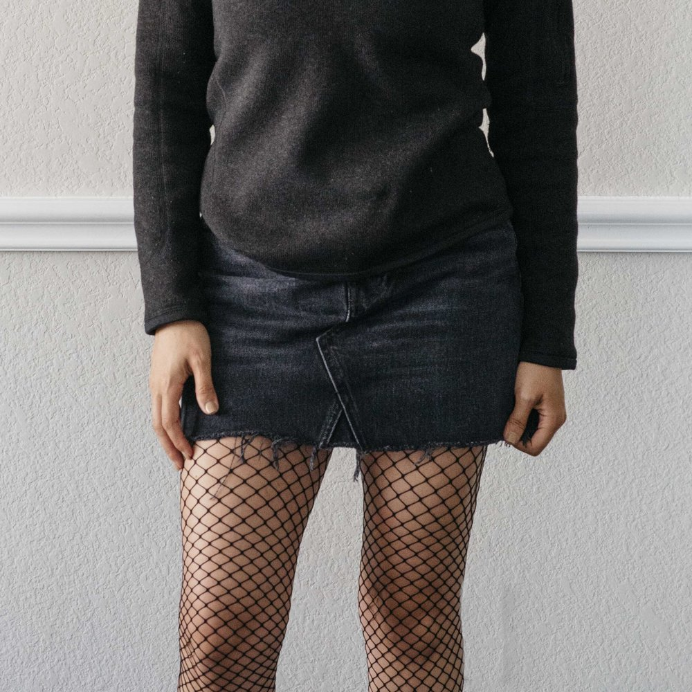 A Patagonia & Reformation Sustainable Fishnet Outfit
