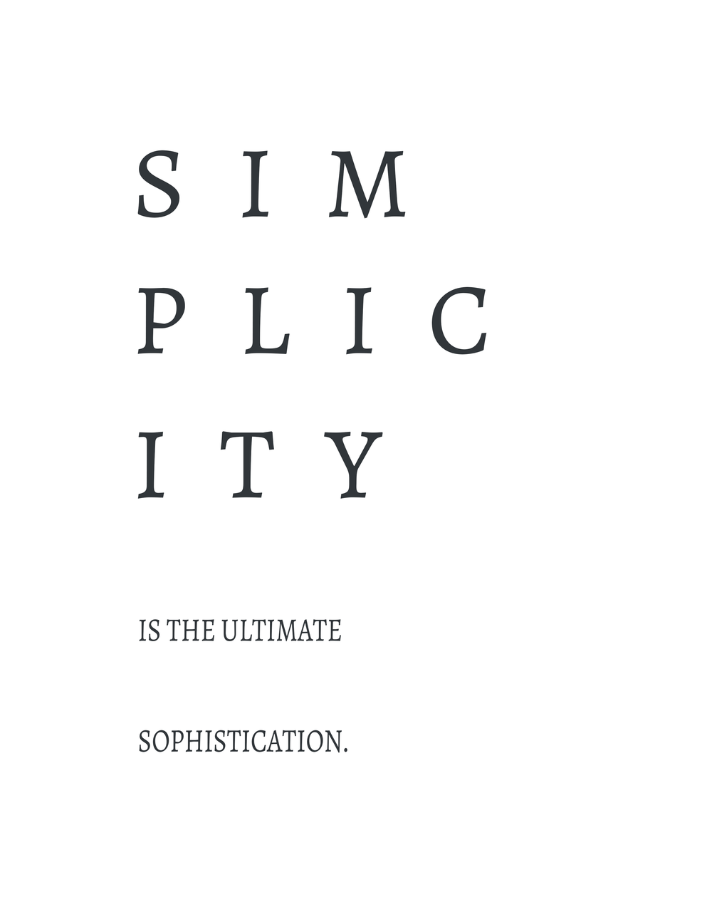 Mozart & Shiplap Free Quote Printable | Simplicity is the ultimate sophistication.