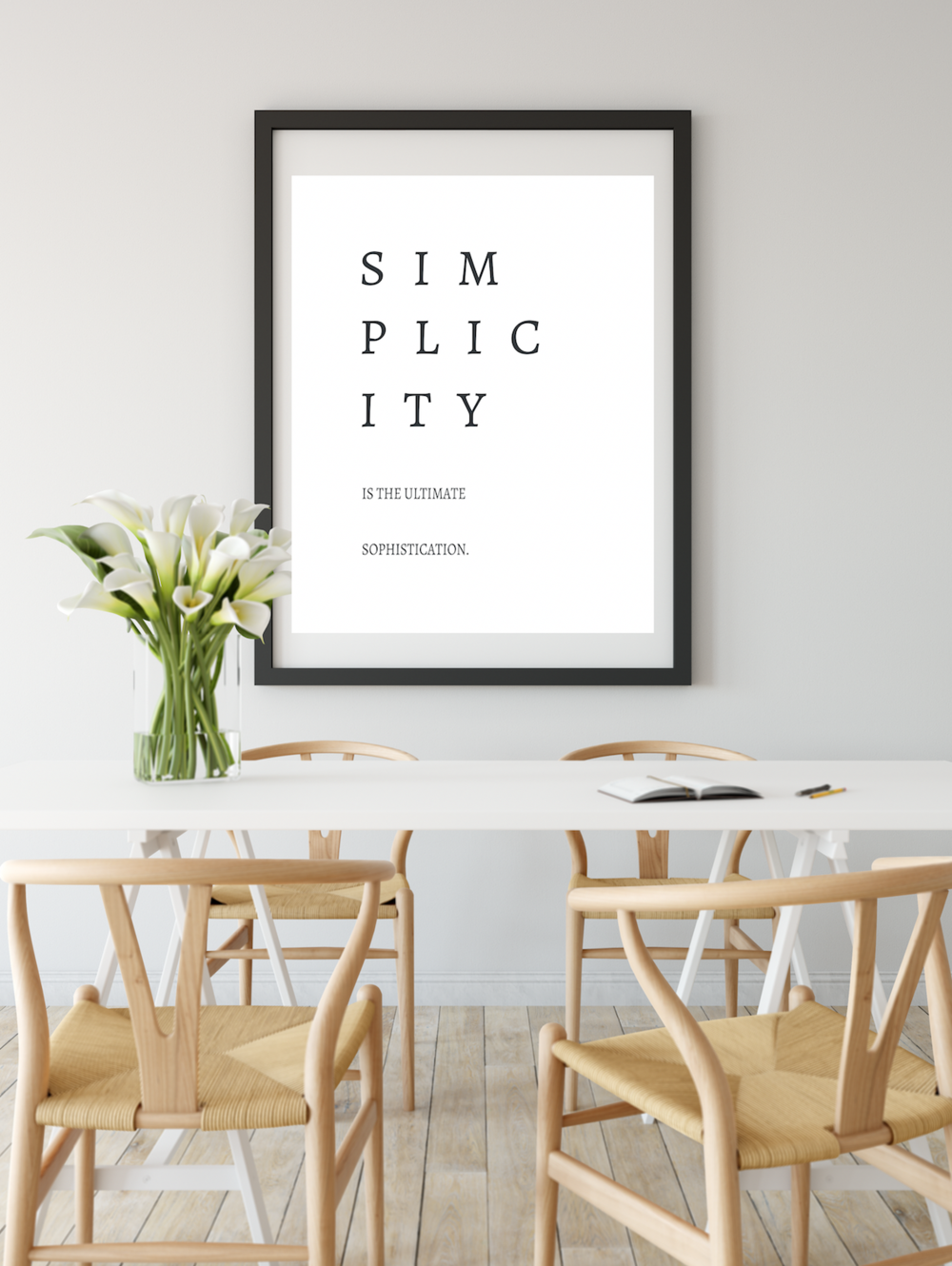 Simplicity is the Ultimate Sophistication Free .pdf Quote Printable