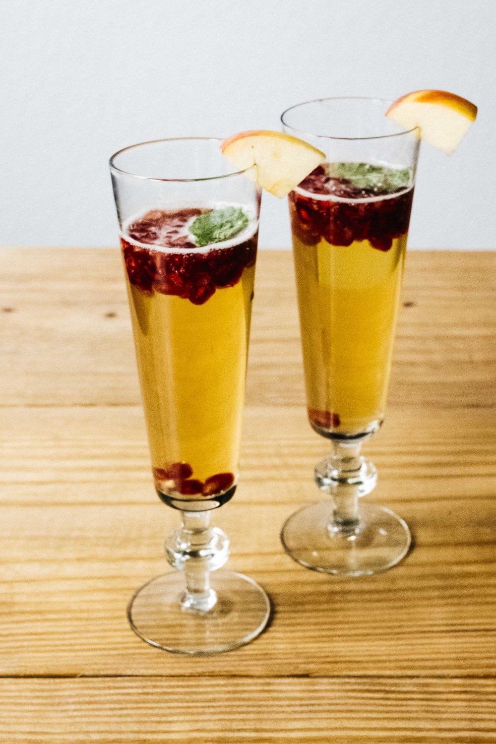 Sparkling Pomegranate Apple Cider Drink