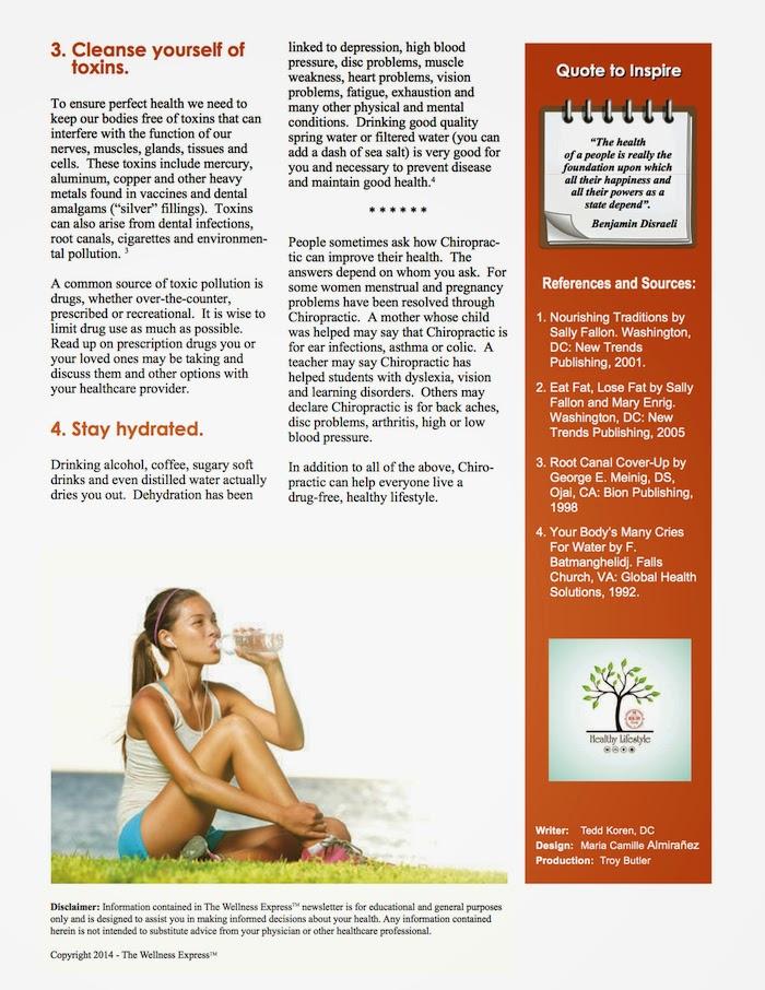 eight ways to wellness newsletter