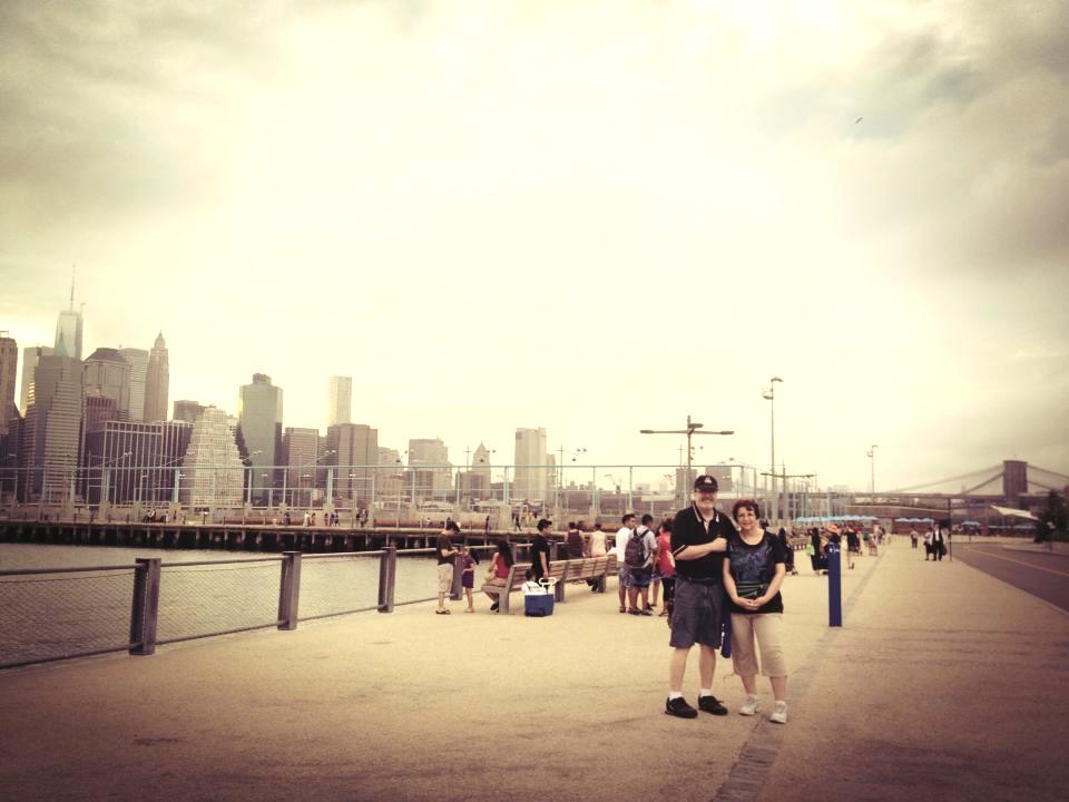 Dr. Taylor and Barbara, visiting New York City