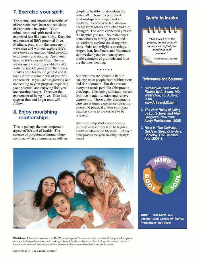 8 ways to wellness newsletter