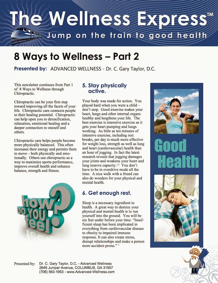8 ways to wellness part 2