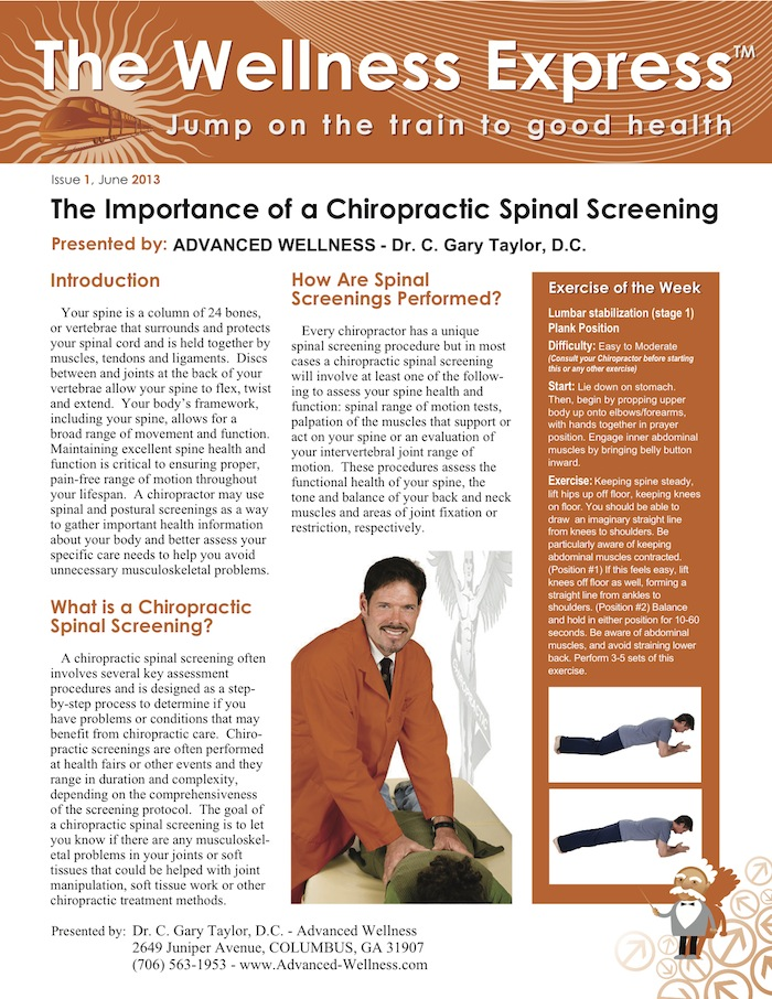 chiropractic spinal screening
