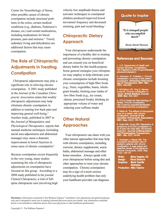 Chiropractor, Columbus Georgia, Chiropractic Adjustments/Spinal Manipulation, Chiropractic Adjustments/Spinal Manipulation, Constipation, Digestive Issues, Nutritional Supplementation, Weekly Newsletter,
