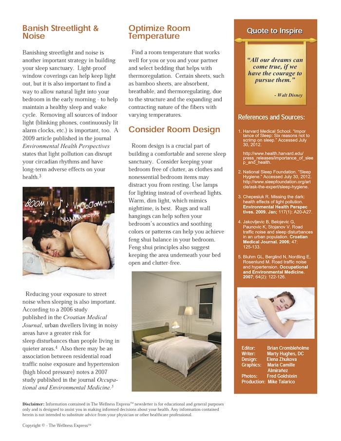 Weekly Newsletter: Building a Sleep Sanctuary 2