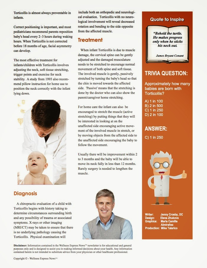 infant torticollis and chiropractic