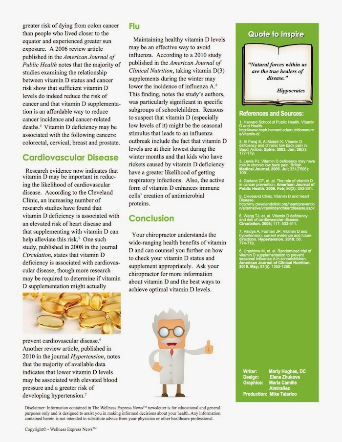 vitamin d: its wide-ranging health benefits