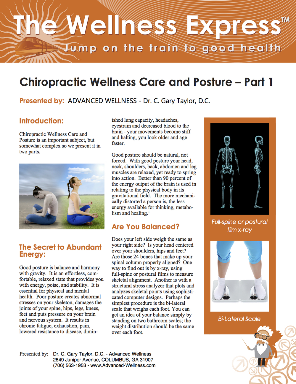 Chiropractic Wellness Care and Posture