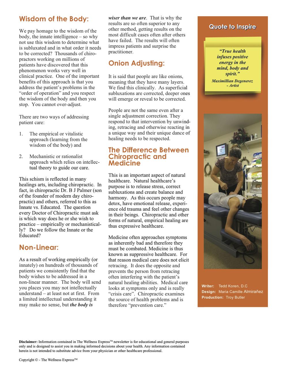 Advanced Wellness Newsletter: Locks and Onions