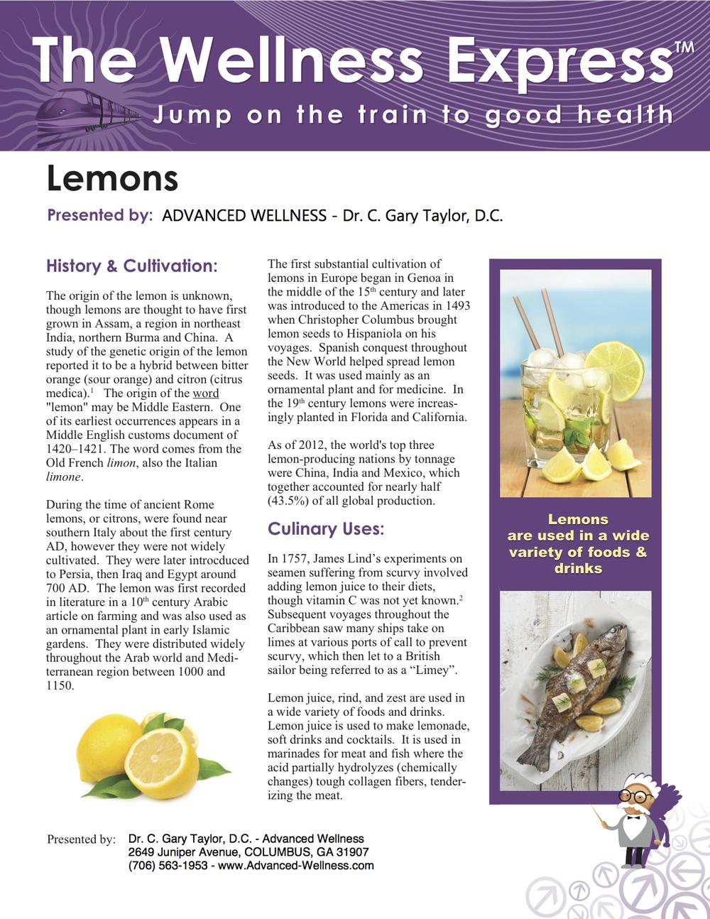 Weekly Newsletter: Lemons