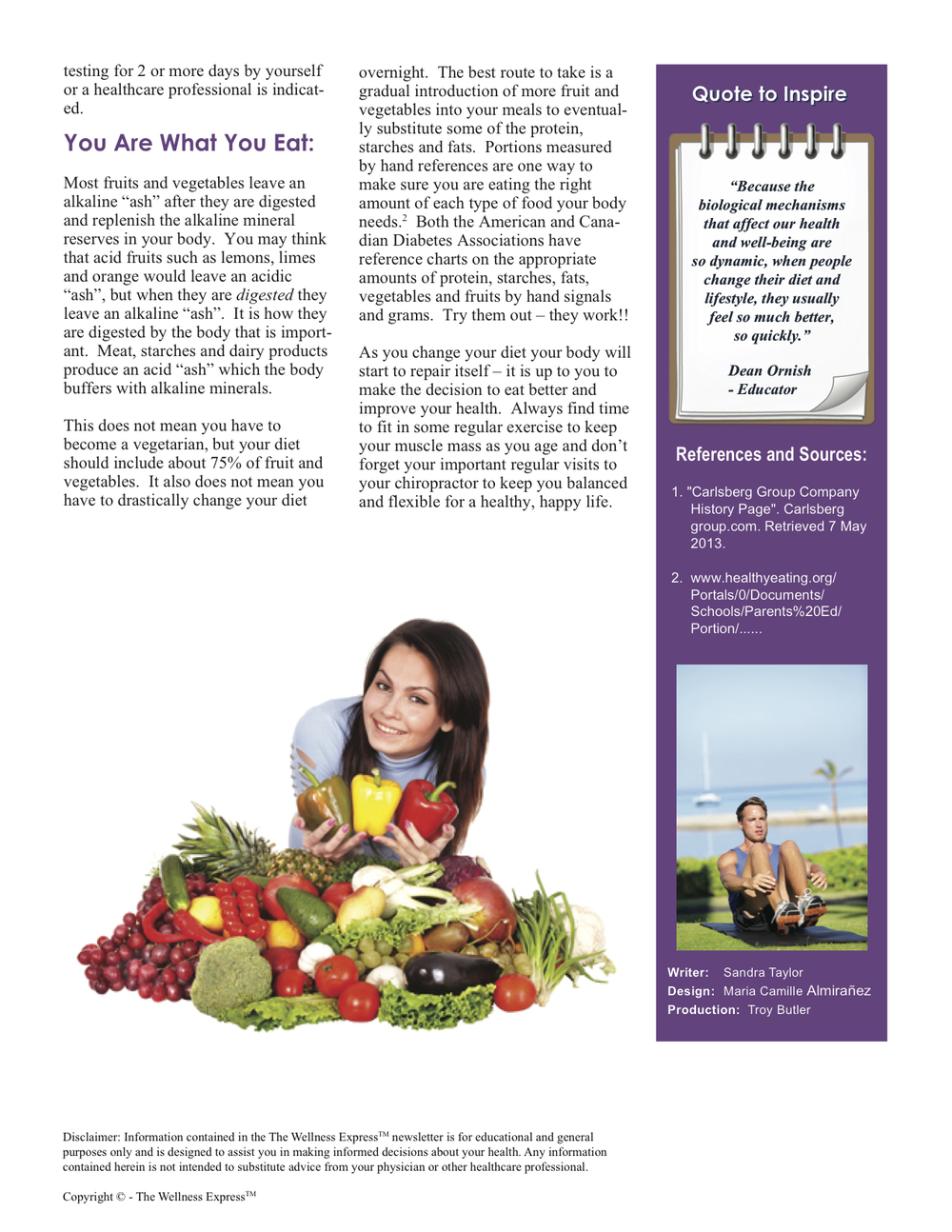 Advanced Wellness Weekly Newsletter: pH in Your Body: Acid or Alkaline