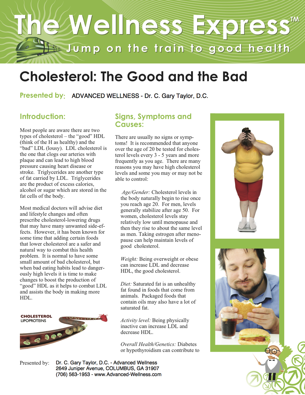 Weekly Newsletter: Cholesterol: The Good and the Bad