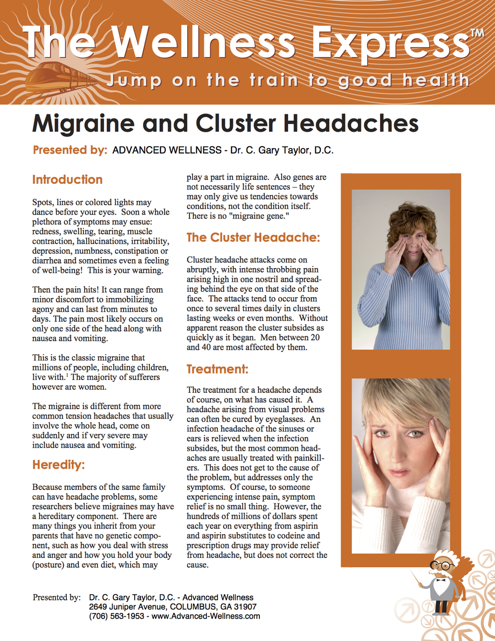 Weekly Newsletter: Migraines and Cluster Headaches