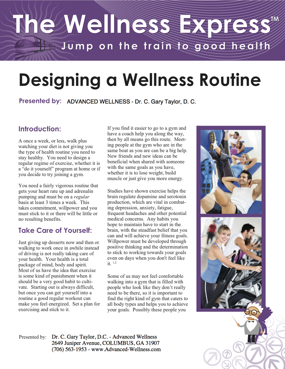 Weekly Newsletter: Designing a Wellness Routine
