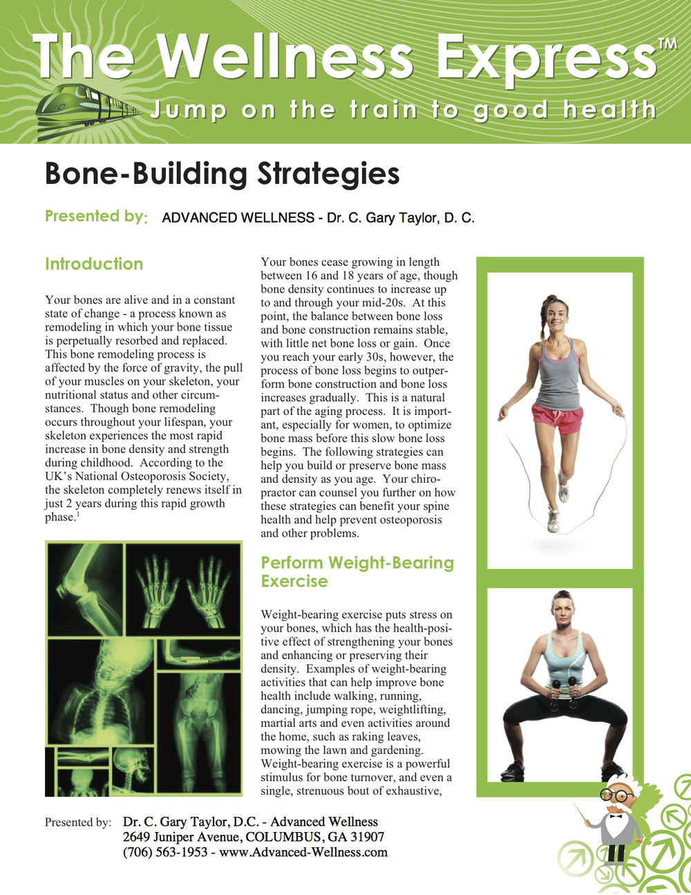 Weekly Newsletter: Bone-Building Strategies