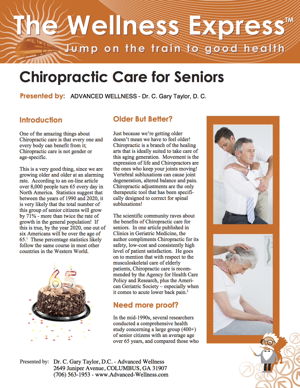 Weekly Newsletter: Chiropractic Care for Seniors