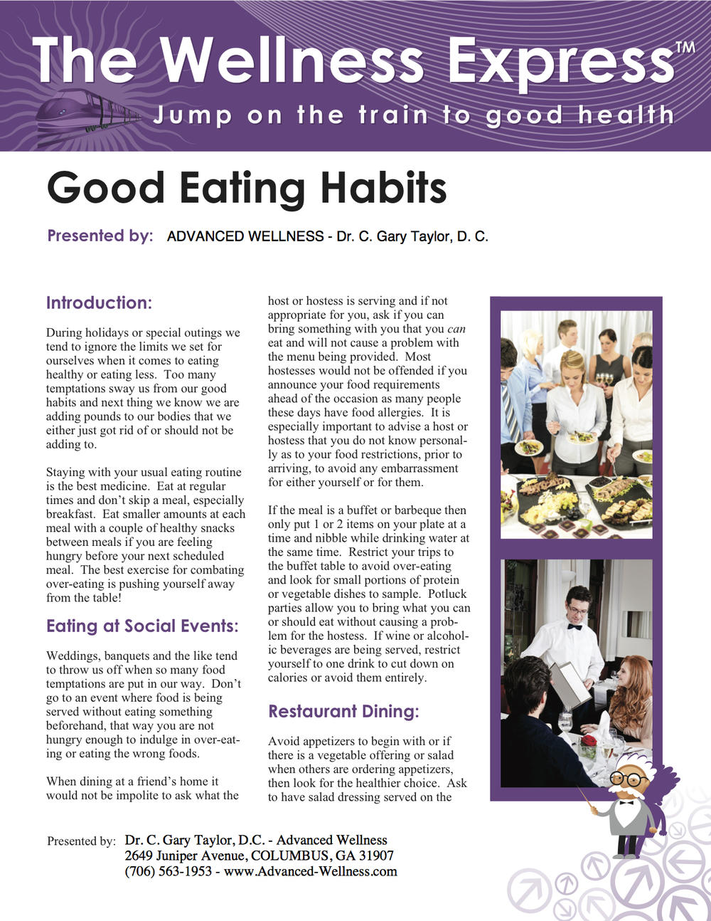 Weekly Newsletter: Good Eating Habits