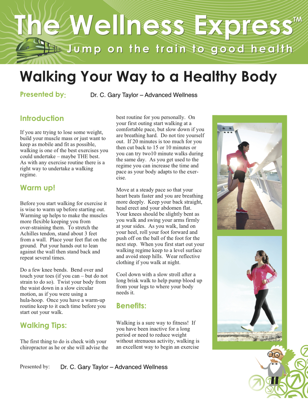 Weekly Newsletter: Walking Your Way to a Healthy Body