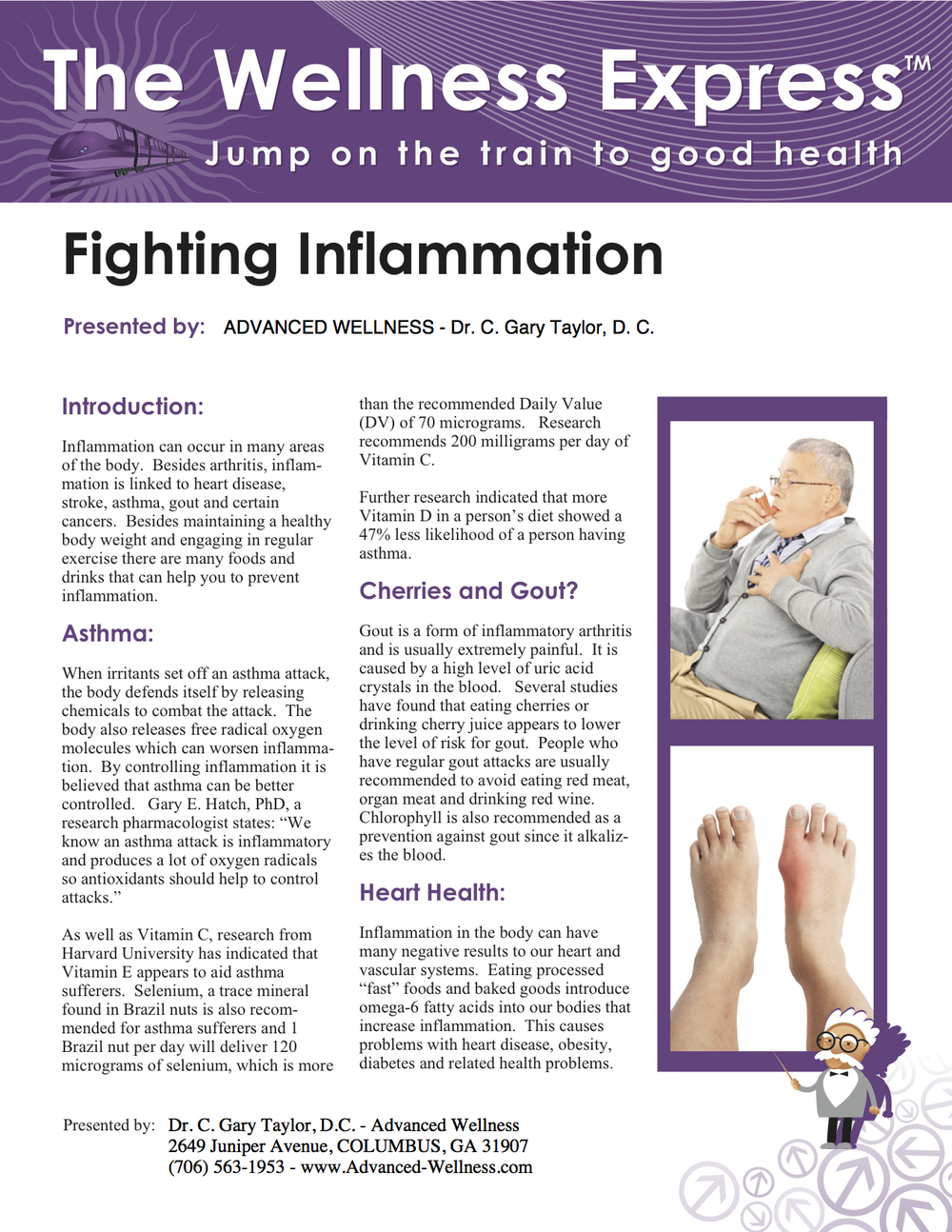 Weekly Newsletter: Fighting Inflammation